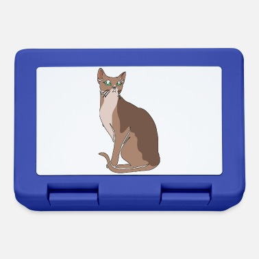 Purr sitting cat - Lunchbox