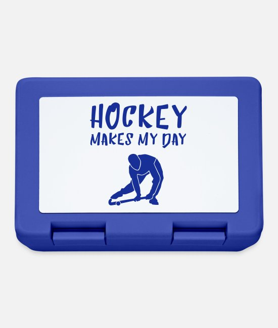 Floor Hockey Lunchboxes - HOCKEY MAKES MY DAY - Lunchbox royal blue