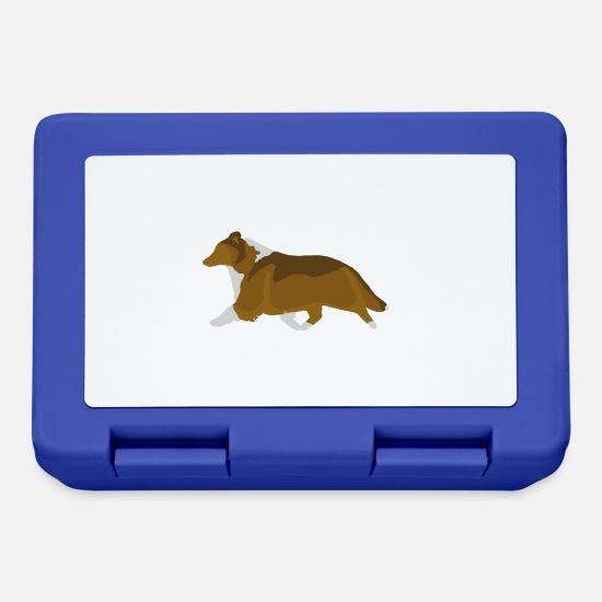 Shetland Sheepdog Lunchboxes - Shetland Sheepdog Trotting (sable) - Lunchbox royal blue