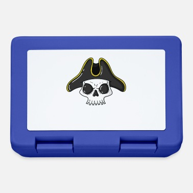 Patch Pirate skull with a cool pirate hat - Lunchbox