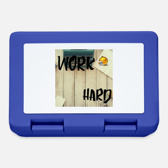 Occupation Lunchboxes - Work Hard - Lunchbox royal blue