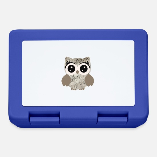 Owl Lunchboxes - Owl Vintage Antik - Lunchbox royal blue