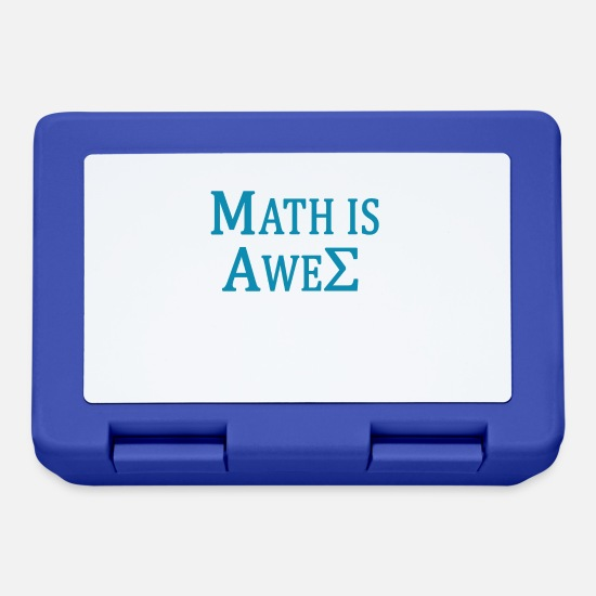 Student Brotdosen - MATH IS AWESOME Mathe ist geil - Brotdose Royalblau