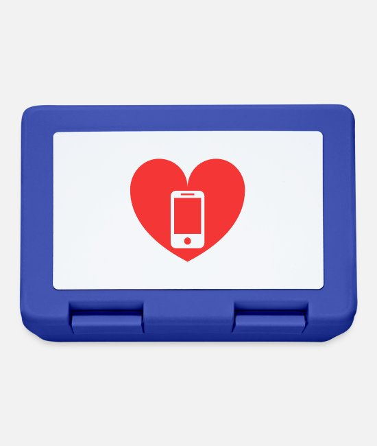 Heart Lunchboxes - love love smartphone cellphone - Lunchbox royal blue