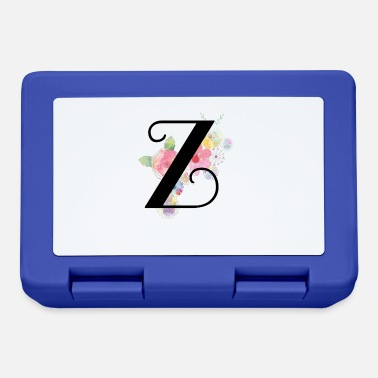 Yellow Monogram Letter Z with Pastel Flowers - Lunchbox