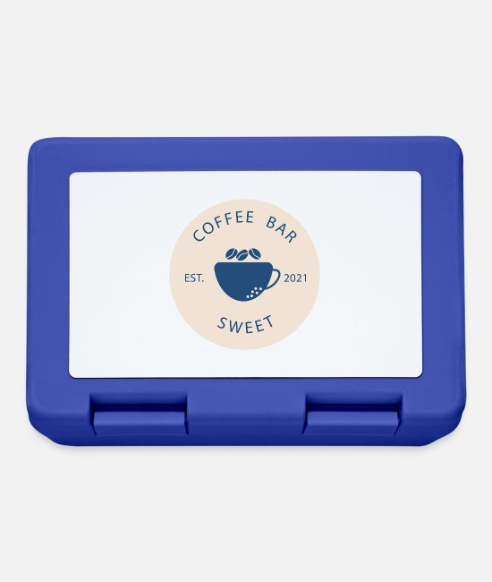 Coffee Bean Lunchboxes - Coffee Bar - Lunchbox royal blue
