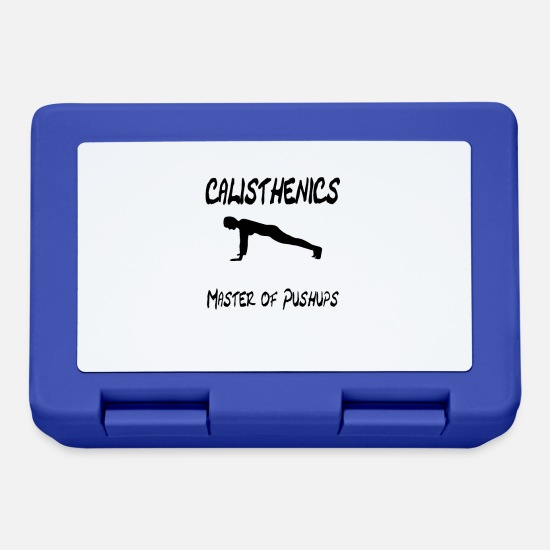 CALISTHENICS MASTER OF Lunchboxes - CALISTHENICS MASTER OF PUSH UPS BLACK SCRIPT - Lunchbox royal blue