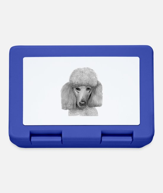 Poodle Lunchboxes - Poodle - standard - portrait - Lunchbox royal blue
