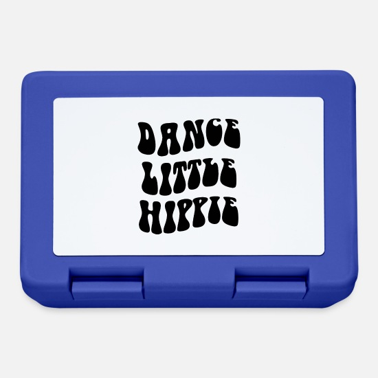 Birthday Lunchboxes - Dance Little Hippie - Lunchbox royal blue