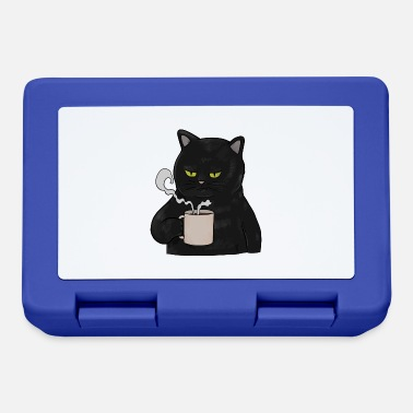 Grumpy In The Morning Grumpy Black Cat with Coffee Morning Muffle - Lunchbox