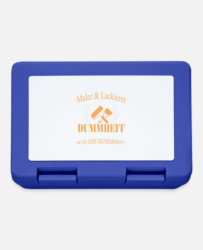 Architect Lunchboxes - I am painter and painter - Lunchbox royal blue