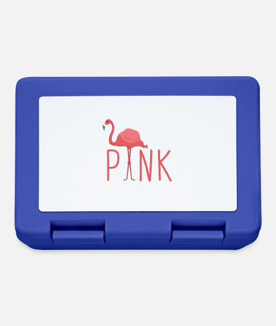 Pink Lunchboxes - Flamingo - Pretty in Pink - Lunchbox royal blue