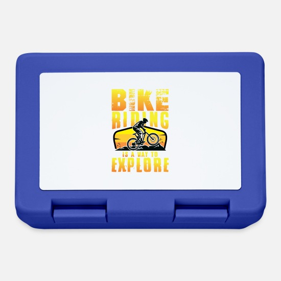 Bike Brotdosen - Rad Fahrrad Mountainbike MTB Mountainbiker Spruch - Brotdose Royalblau
