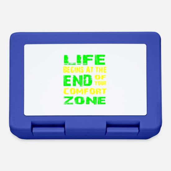 Birthday Lunchboxes - Life Begins at the End of Your Comfort Zone - Lunchbox royal blue