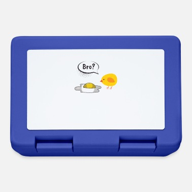 Fried Egg Chick Chicken Fried Egg Satire Black Humor - Lunchbox