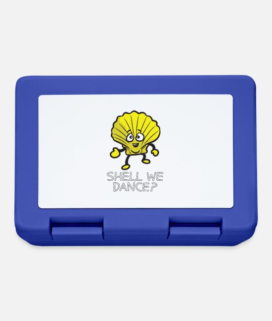Dance Instructor Lunchboxes - SHELL WE DANCE Funny Dancing Shell Humor - Lunchbox royal blue