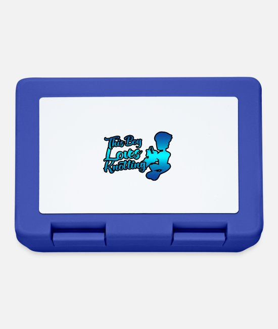 Training Lunchboxes - This boy loves knotting - Lunchbox royal blue