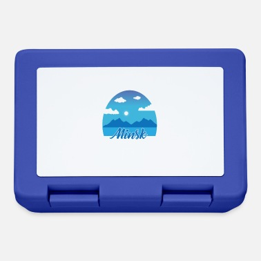Minsk Minsk dream vacation in blue - Lunchbox