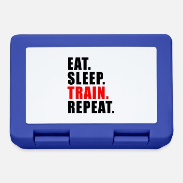 Lift EAT SLEEP TRAIN REPEAT GESCHENK FITNESS GYM SPORT - Brotdose