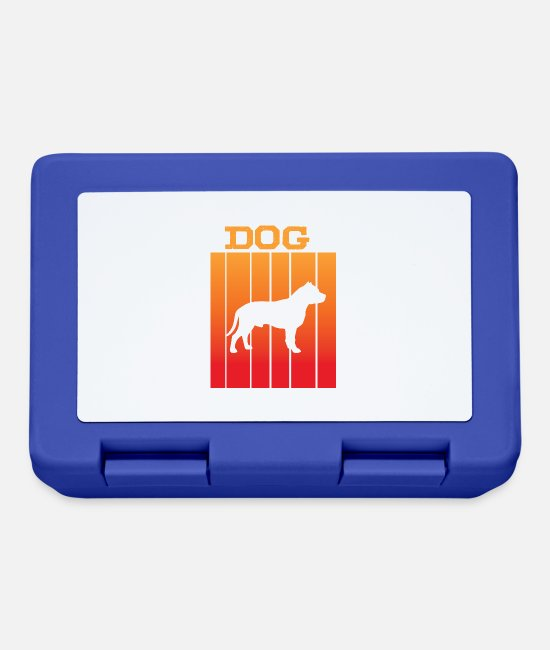 South America Lunchboxes - Dog shadow play in sunset - Lunchbox royal blue