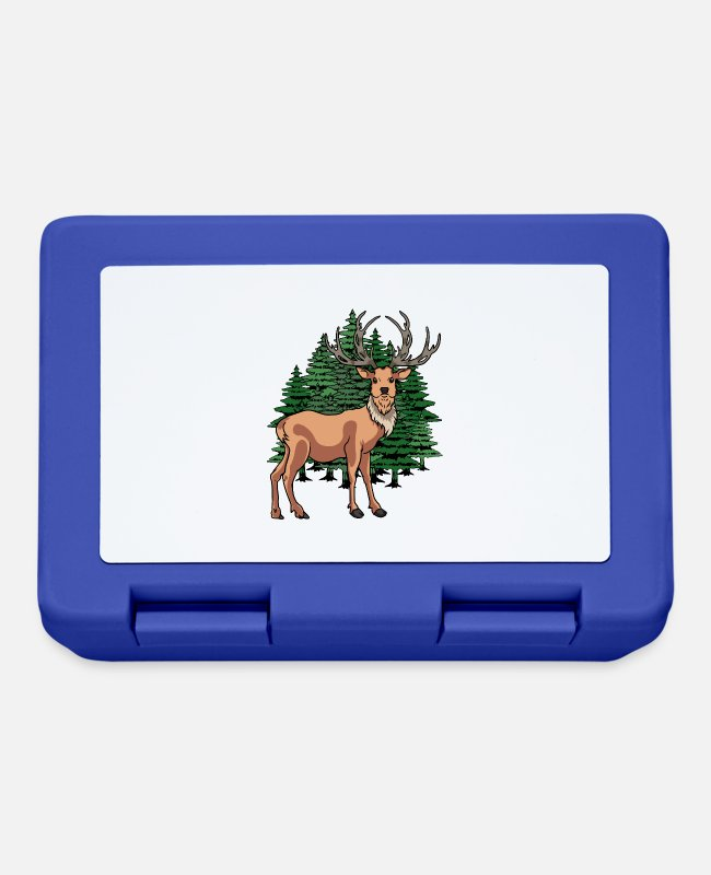 Red Deer Lunchboxes - Deer red deer elk deer forest animals red deer - Lunchbox royal blue
