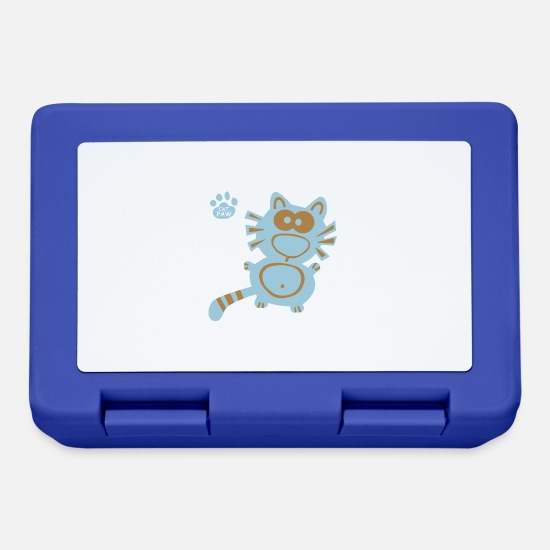 Tabby Lunchboxes - Catpaw Cat Cats Katze Katzen Humor Fun Cartoon - Lunchbox royal blue