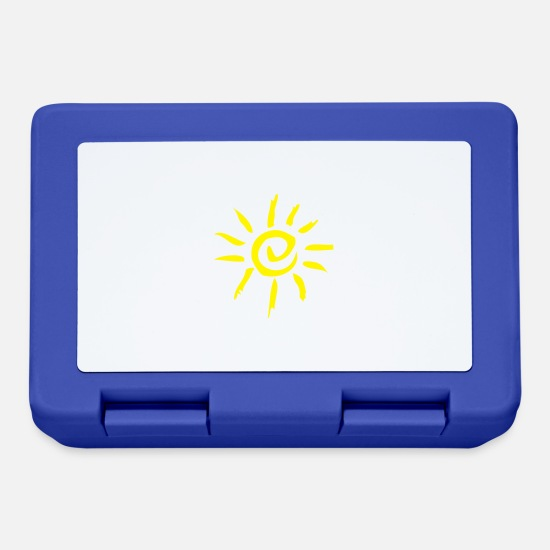 Birthday Lunchboxes - sun - Lunchbox royal blue