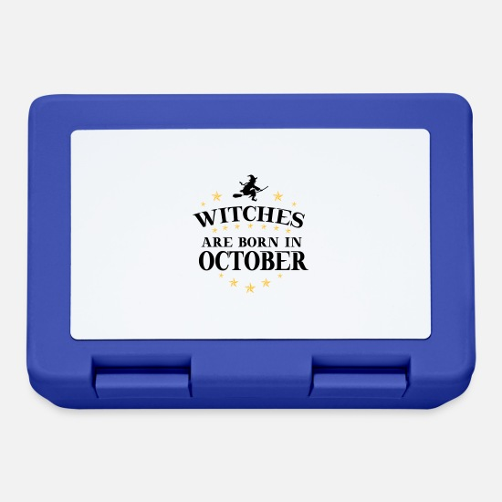 Birthday Lunchboxes - Witches October - Lunchbox royal blue