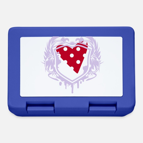 Small Lunchboxes - A small dotted heart - Lunchbox royal blue