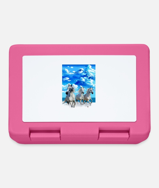 Shock Lunchboxes - running Horses - Lunchbox pink