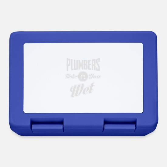 Plumber Lunchboxes - Plumbers make you wet - Lunchbox royal blue