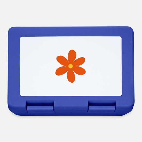 Blume Lunchboxes - flower - Lunchbox royal blue