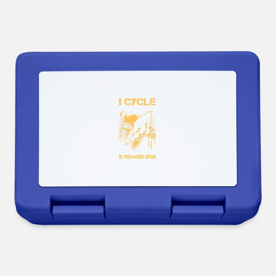 Cycling Idea Gift Lunchboxes - I cycle because punching people is frowned upon - Lunchbox royal blue