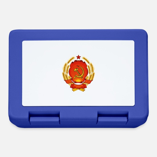 Comunista Lunch boxes - Ucraina SSR martello e la Russia comunista falce - Lunch box blu royal