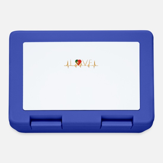Love Lunchboxes - home roots home love heart from PORTUGAL portuge - Lunchbox royal blue