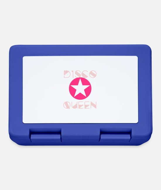 Pink Lunchboxes - disco queen 80s dance dance pink star girl - Lunchbox royal blue