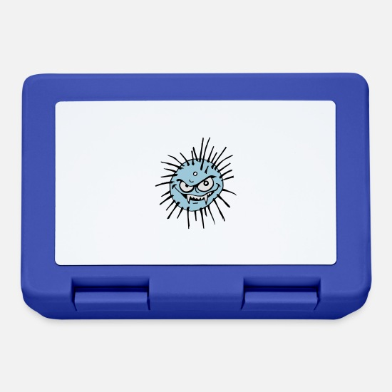 Horror Lunchboxes - Virus - Lunchbox royal blue