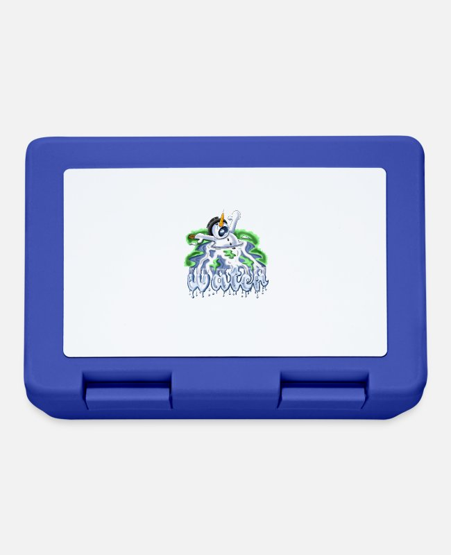 Liquidletterscontest Lunchboxes - Melting snowman - Lunchbox royal blue