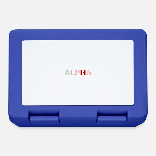 Alfabeto Lunch boxes - ALPHA - Lunch box blu royal
