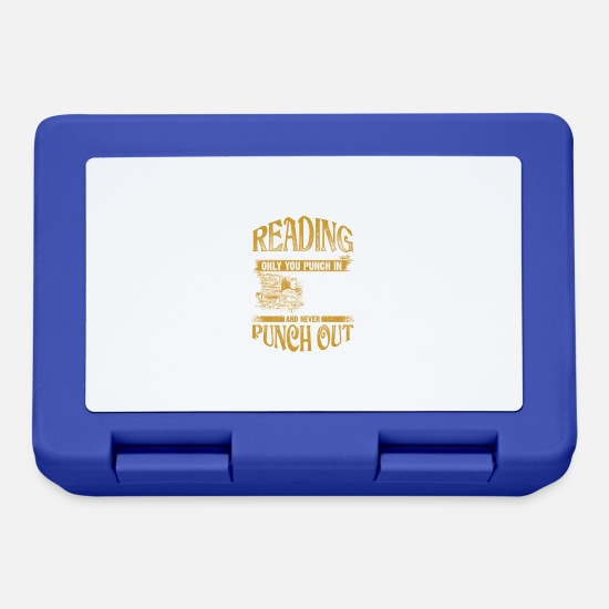 Denken Brotdosen - Reading - Never Punch Out - EN - Brotdose Royalblau
