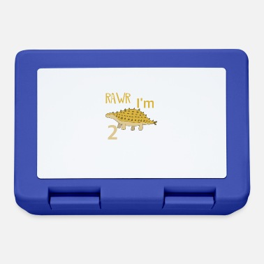 Boy Dinosaur 2 To the 2 birthday for boys Ankylosaurus - Lunchbox