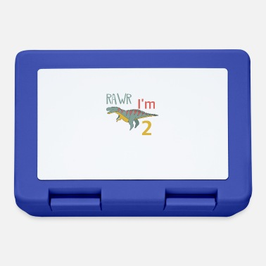 Boy Dinosaur 2 To the 2 birthday for boys Ceratosaurus - Lunchbox