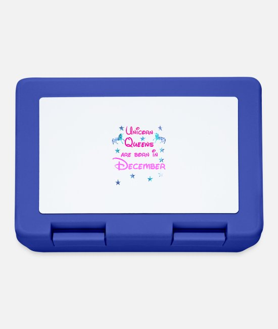December Lunchboxes - Unicorn Queens born december december unicorn - Lunchbox royal blue