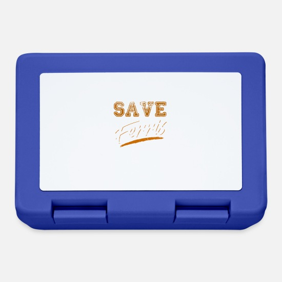 Tea Lunchboxes - Save Ferris 80s Cult Movie shirt - Lunchbox royal blue
