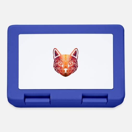 American Lunchboxes - Amerikanisches Katzen-Hemd Geometric - Lunchbox royal blue