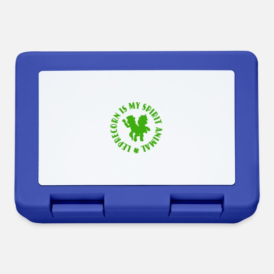 Day Lunchboxes - Leprecorn Is My Spirit Animal Funny St Patricks - Lunchbox royal blue