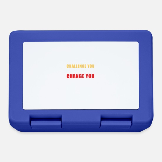 Gift Idea Lunchboxes - Challenges doesnt change you !! - Lunchbox royal blue