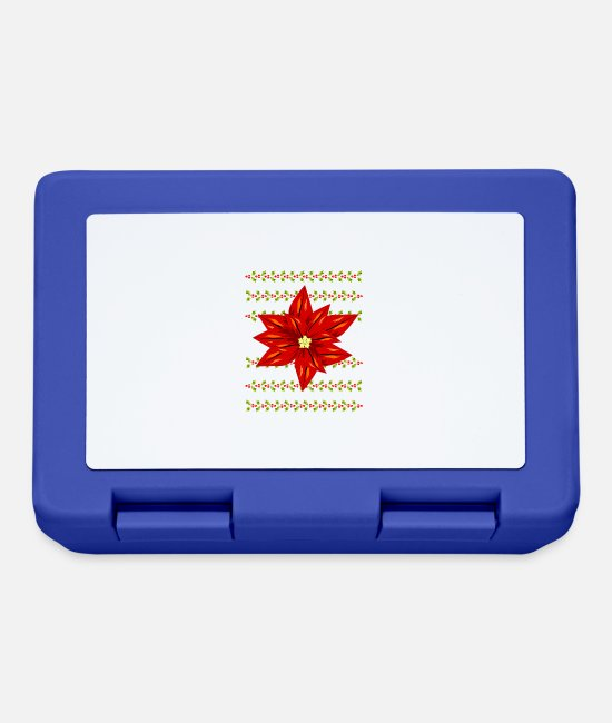 Christmas Lunchboxes - Christmas star flower - Lunchbox royal blue