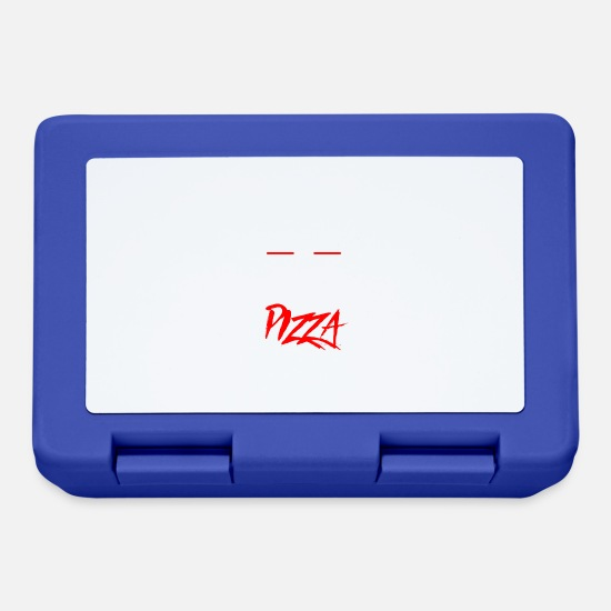 Pizza Lunchboxes - Eating pizza - Lunchbox royal blue