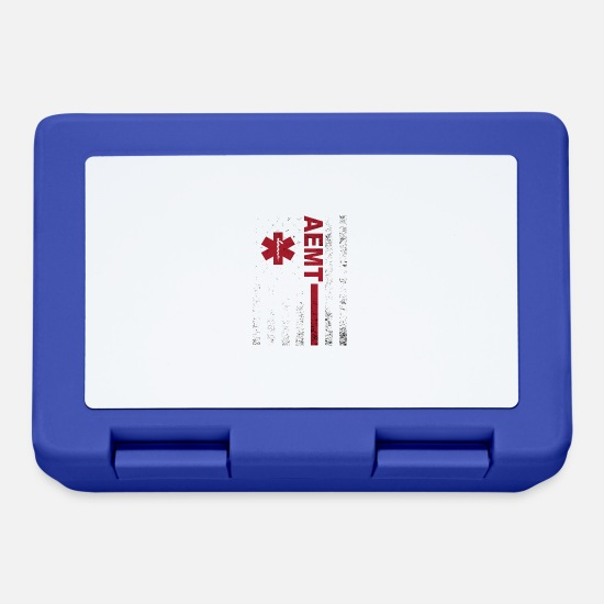 Love Lunchboxes - AEMT American Flag - Lunchbox royal blue